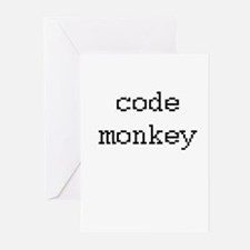 code monkey Greeting Cards (Pk of 20)