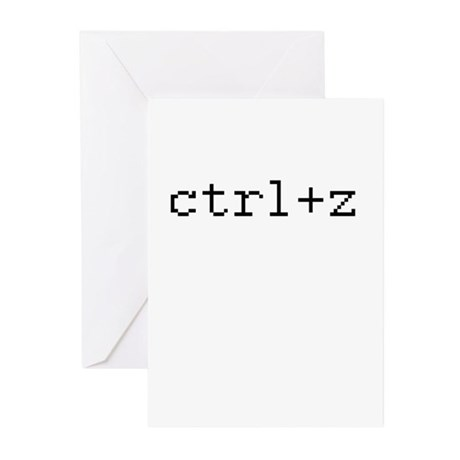 ctrl+z - Control Z - redo Greeting Cards (Pk of 20