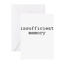insufficient memory Greeting Cards (Pk of 20)