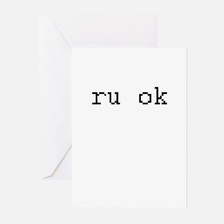ru ok - are you ok? Greeting Cards (Pk of 20)