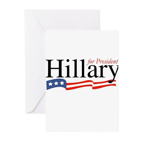 Hillary for President 2008 Greeting Cards (Pk of 2