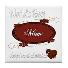 Cherished Mom Tile Coaster
