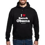 I Love Barack Obama Hoodie (dark)