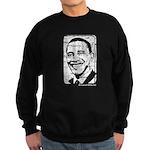 Barack Obama (distressed) Sweatshirt (dark)