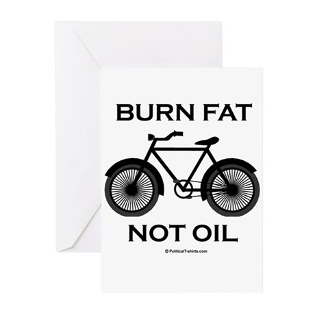 Burn fat. Not oil. Greeting Cards (Pk of 20)