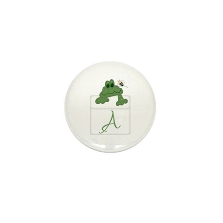 Pocket Pal Frog - Any Initial/Name Mini Button (10