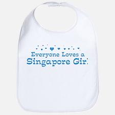 Loves Singapore Girl Bib