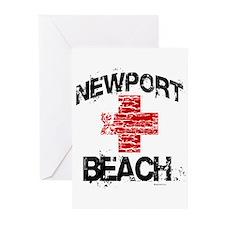 Newport Beach Lifeguard ~ Greeting Cards (Pk of 20