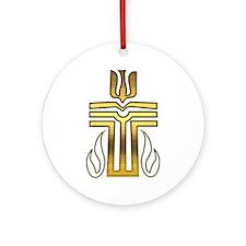 Presbyterian Cross Ornament (Round)