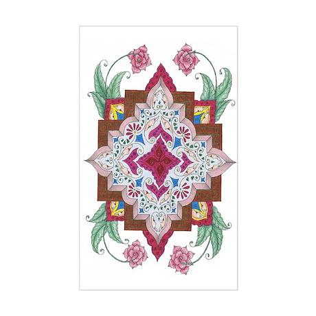Mediterranean Tile Rectangle Sticker