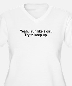 Cute Run like a girl T-Shirt