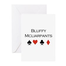 Bluffy Mcliarpants / Poker Greeting Cards (Pk of 2