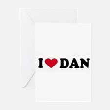 I LOVE DAN ~ Greeting Cards (Pk of 20)