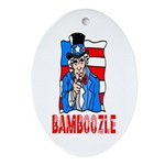 Uncle Sam Bamboozle Oval Ornament