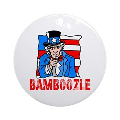 Uncle Sam Bamboozle Ornament (Round)
