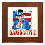 Uncle Sam Bamboozle Framed Tile