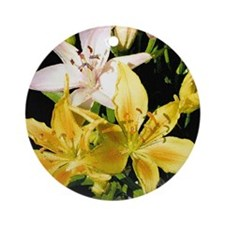 Lillies Ornament (Round)
