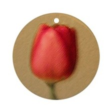 Red Tulip Ornament (Round)