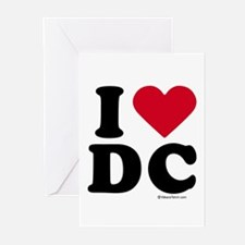I Love DC ~ Greeting Cards (Pk of 20)