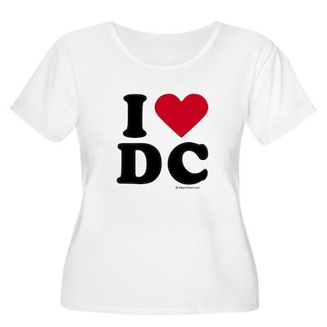 I Love DC ~ Women's Plus Size Scoop Neck T-Shirt