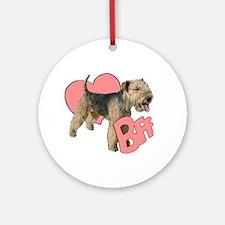 lakeland terrier heart Ornament (Round)