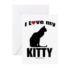I Love my Kitty ~ Greeting Cards (Pk of 20)