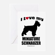 I Love my Schnauzer ~ Greeting Cards (Pk of 20)