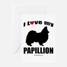 I Love my Papillion ~ Greeting Cards (Pk of 20)