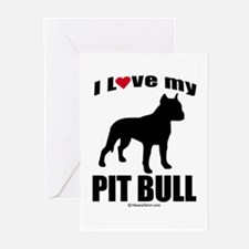 I Love my Pit Bull ~ Greeting Cards (Pk of 20)
