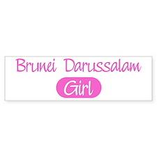 Brunei Darussalam girl Bumper Bumper Sticker