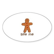 Bite me Oval Decal
