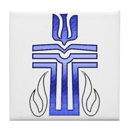 Presbyterian Cross Tile Coaster