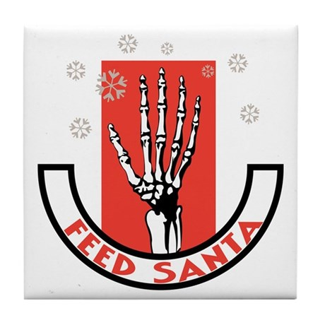 Feed Santa Tile Coaster
