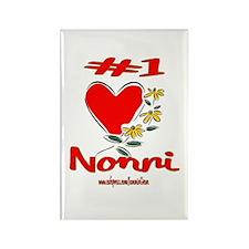 #1 NONNI Rectangle Magnet