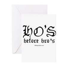 Ho's before Bro's - Greeting Cards (Pk of 20)