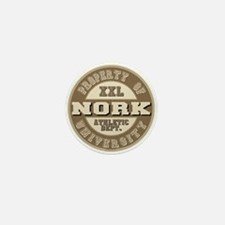 Nork Last Name Athletic Department Mini Button