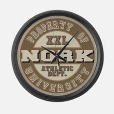 Nork Last Name Athletic Department Large Wall Cloc