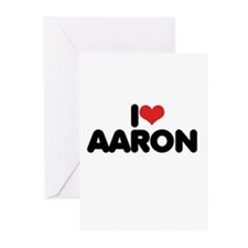 I LOVE AARON ~ Greeting Cards (Pk of 20)