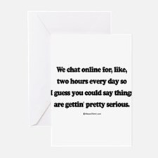 We're pretty serious ~ Greeting Cards (Pk of 20)