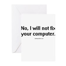Funny Unix Greeting Cards (Pk of 20)