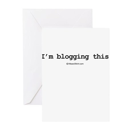 I'm blogging this ~ Greeting Cards (Pk of 20)