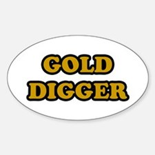 Gold Digger Oval Decal