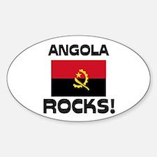 Angola Rocks! Oval Decal