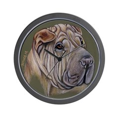 Shar Pei Wall Clock