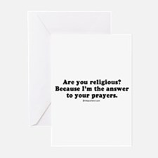 Cute Offensive line Greeting Cards (Pk of 20)