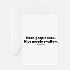 Unique Mean people suck Greeting Cards (Pk of 20)