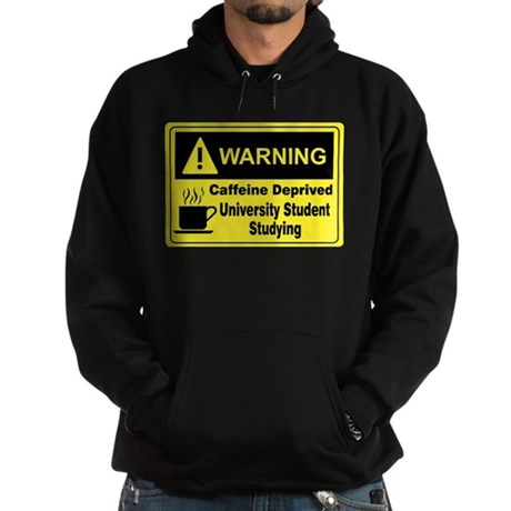 Warning University Student Hoodie (dark)