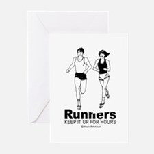 Cute Valentine runners Greeting Cards (Pk of 20)
