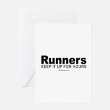 Unique Valentine runners Greeting Cards (Pk of 20)