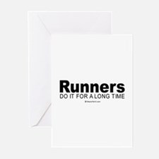 Funny Valentine runners Greeting Cards (Pk of 20)